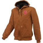 Carhartt Men's University of Oklahoma Quilted Flannel Lined Sandstone Active Jacket