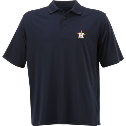 Antigua Men's Houston Astros Piqué Xtra Lite Polo