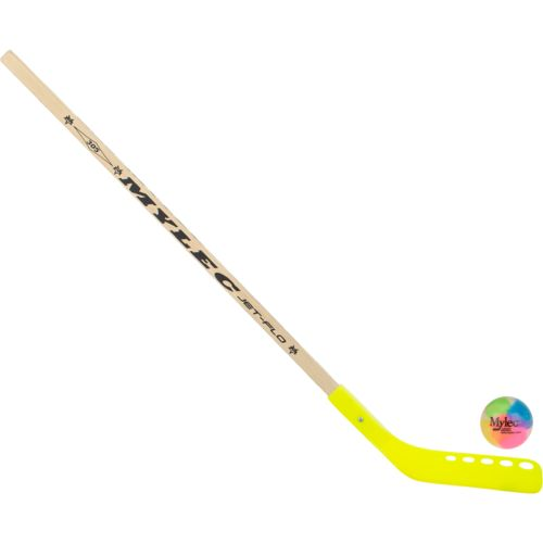 Mylec Kids' 305CZS Zetterberg Jet-Flo Hockey Stick and No-Bounce Ball Combo Pack