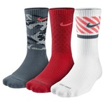 Nike Men's Dri-FIT Triple Fly Crew Socks 3-Pair