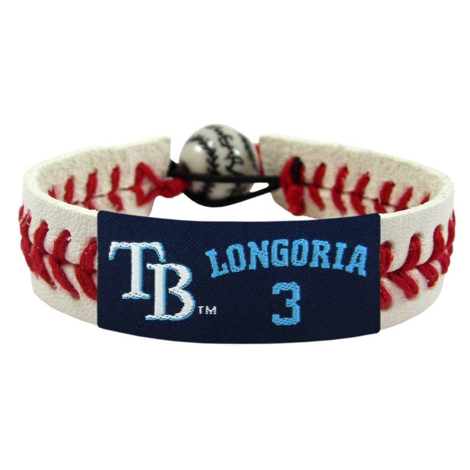 GameWear Tampa Bay Rays Evan Longoria #3 Classic Jersey Baseball Bracelet