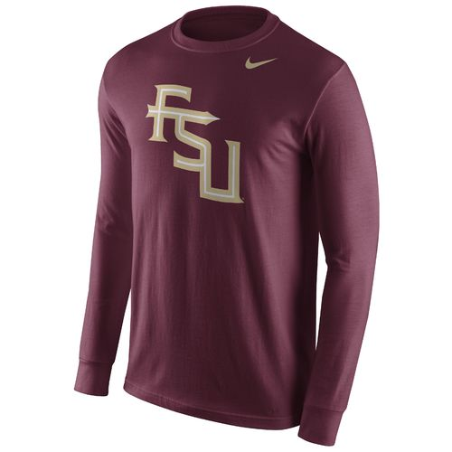Nike™ Men's Florida State University Cotton Long Sleeve Logo T-shirt