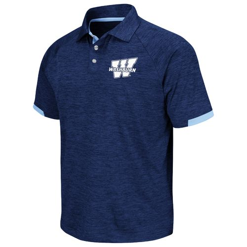 Chiliwear Men's Washburn University Spiral Short Sleeve Polo Shirt