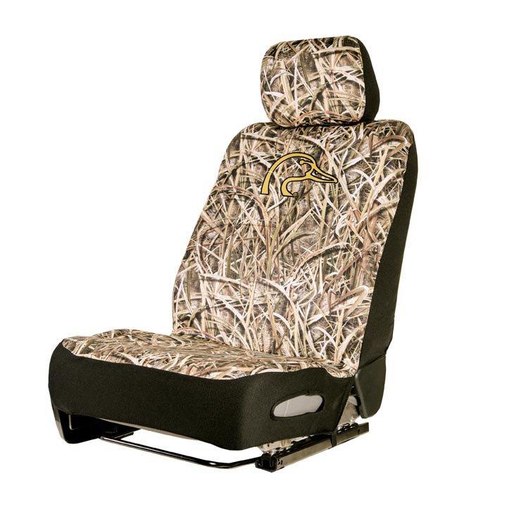 Ducks Unlimited Mossy Oak Low Back Neoprene Seat Cover