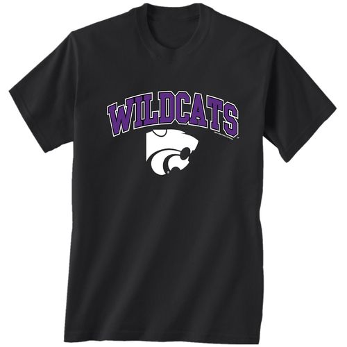 New World Graphics Men's Kansas State University Arch Mascot T-shirt
