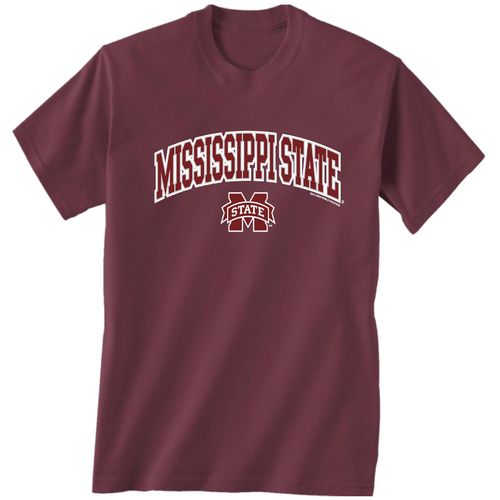 New World Graphics Men's Mississippi State University Arch Mascot T-shirt