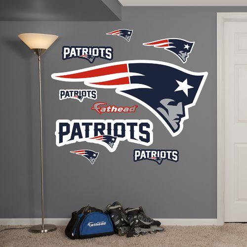 Fathead New England Patriots Real Big Team Logo Decal