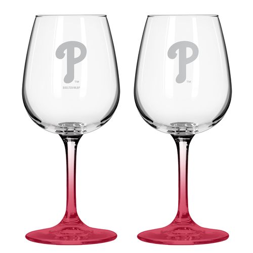 Boelter Brands Philadelphia Phillies 12 oz. Wine Glasses