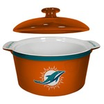 Boelter Brands Miami Dolphins Gametime 2.4 qt. Oven Bowl