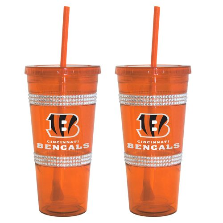 Boelter Brands Cincinnati Bengals 22 oz. Bling Straw