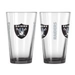 Boelter Brands Oakland Raiders Elite 16 oz. Pint Glasses 2-Pack - view number 1