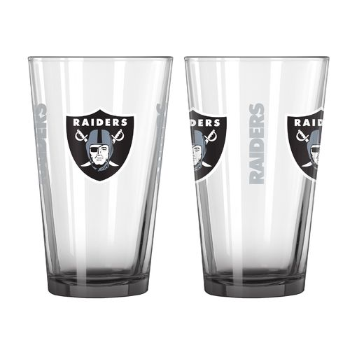 Boelter Brands Oakland Raiders Elite 16 oz. Pint Glasses 2-Pack