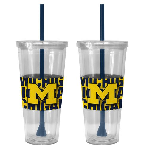 Boelter Brands University of Michigan Bold Neo Sleeve 22 oz. Straw Tumblers 2-Pack
