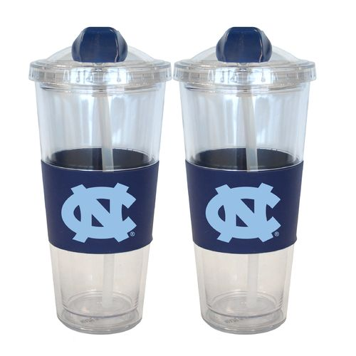 Boelter Brands University of North Carolina 22 oz. No-Spill Straw Tumblers 2-Pack