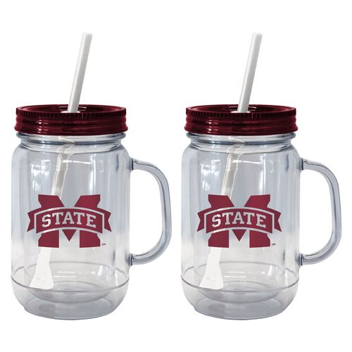Boelter Brands Mississippi State University 20 oz. Handled Straw Tumblers 2-Pack - view number 1