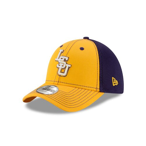 New Era Men's Louisiana State University 39THIRTY Team Color Cap