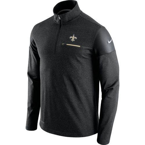 Nike Men's New Orleans Saints Elite Coaches 1/2 Zip Top