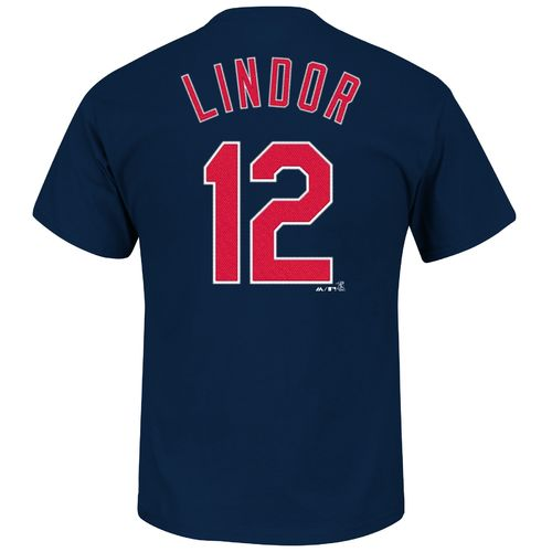 Majestic Men's Cleveland Indians Francisco Lindor #12 T-shirt