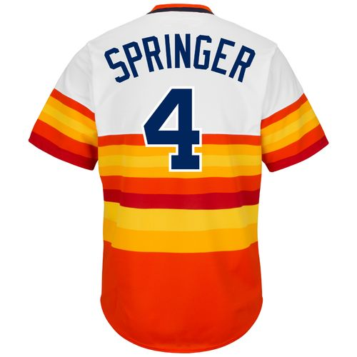 ebb420c57 ... Majestic Mens Houston Astros George Springer 4 Cooperstown Replica  Jersey - view number .