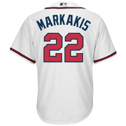 Majestic Men's Atlanta Braves Nick Markakis #22 Cool Base Replica Jersey