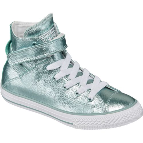 Converse Girls' Chuck Taylor All Star Stingray Metallic Brea High-Top Shoes - view number 2