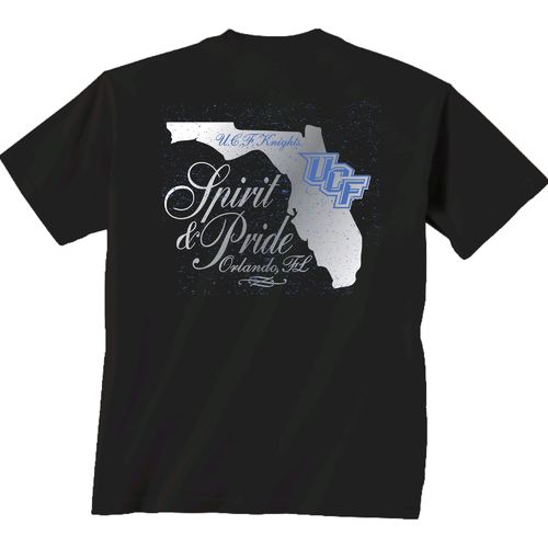 New World Graphics Women's University of Central Florida Silver State Distress T-shirt
