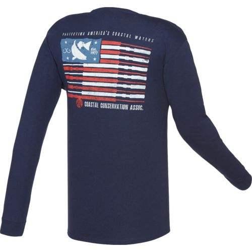 CCA™ Men's Fishing Flag Long Sleeve T-shirt