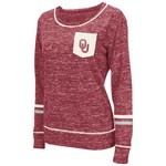 Colosseum Athletics™ Women's University of Oklahoma Homies Raw Edge Pocket T-shirt