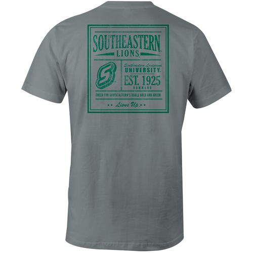 Image One Men's Southeastern Louisiana University Vintage Poster Comfort Color T-shirt