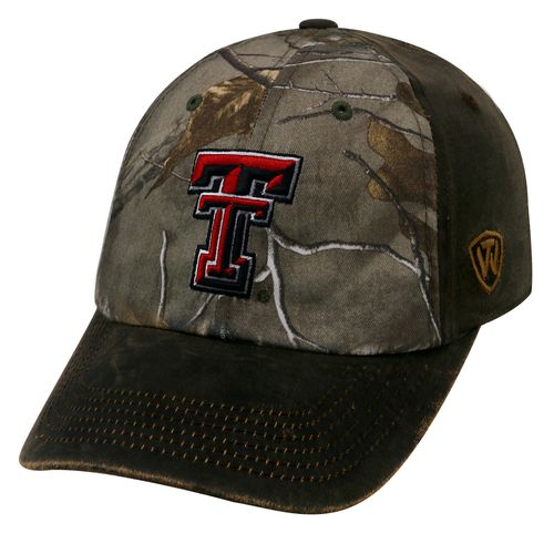 Top of the World Men's Texas Tech University Driftwood Cap