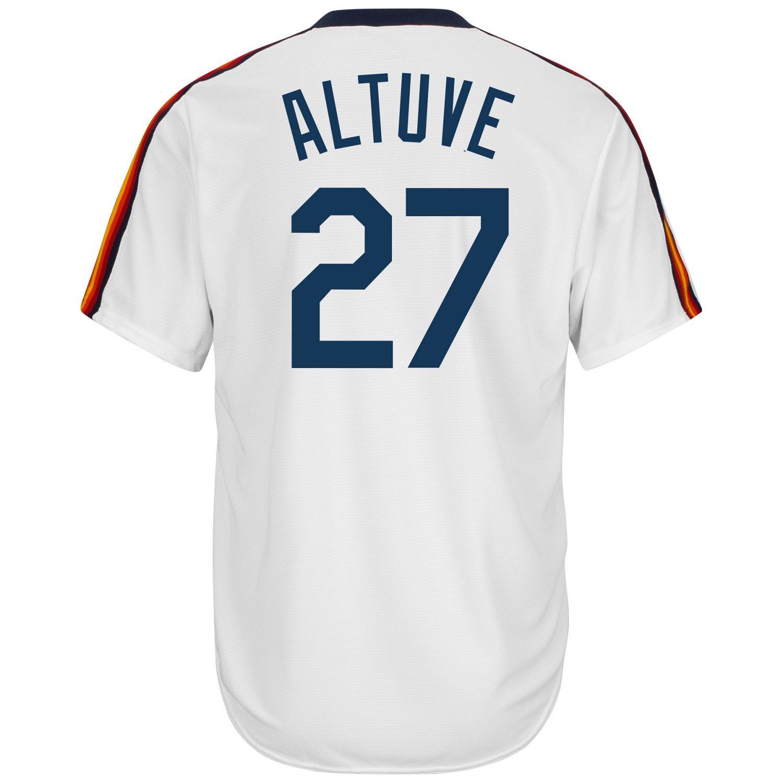 Majestic Men's Houston Astros José Altuve #27 Cool Base Cooperstown Jersey - view number 2