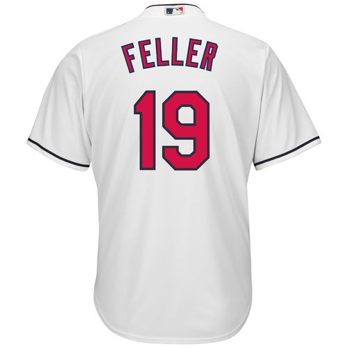 Majestic Men's Cleveland Indians Bob Feller #19 Cool Base Replica Jersey - view number 2
