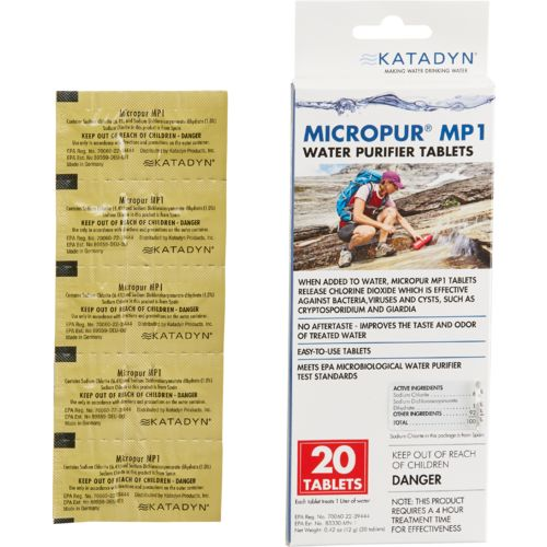 Display product reviews for Katadyn Micropur MP1 Purification Tablets 20-Pack