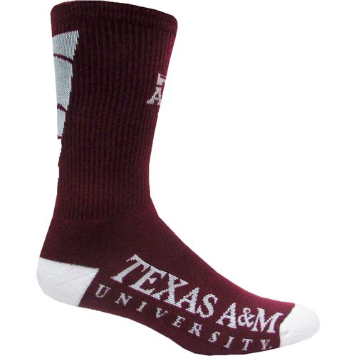 Topsox Boys' Texas A&M University V-stripe Crew Socks