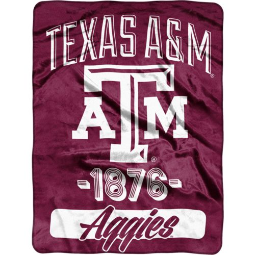 The Northwest Company Texas A&M University 40 Yard Dash Micro Raschel Throw