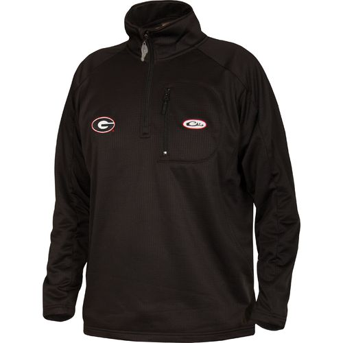 Drake Waterfowl Men's University of Georgia BreathLite 1/4 Zip Pullover