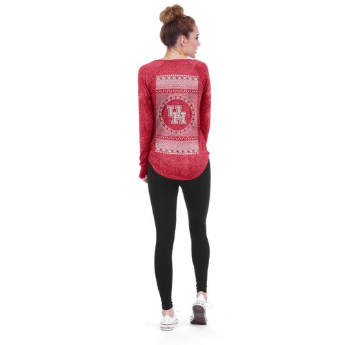 Chicka-d Women's University of Houston Favorite V-neck Long Sleeve T-shirt