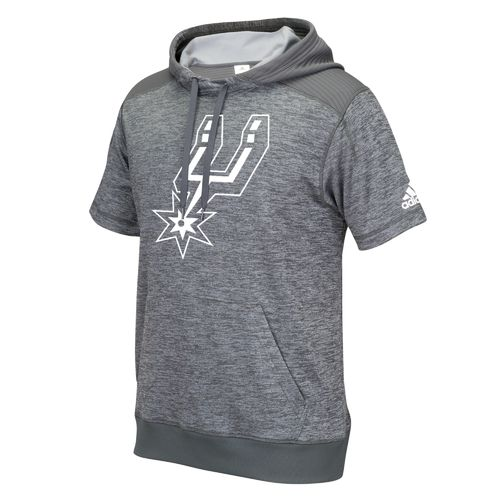 adidas™ Men's San Antonio Spurs Pregame Short Sleeve Hoodie