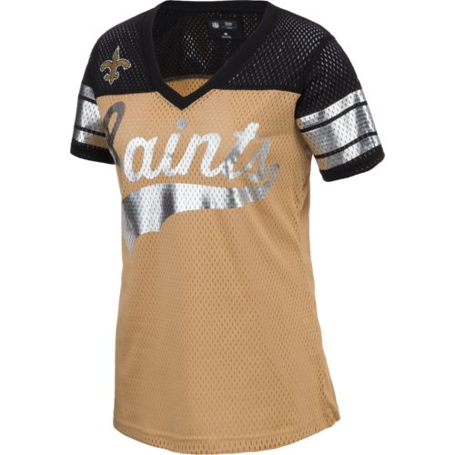 G-III for Her Women's New Orleans Saints Pass Rush Mesh Top