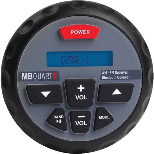 MB Quart Nautic Series GMR In-Dash Bluetooth-Enabled Gauge-Mount Radio