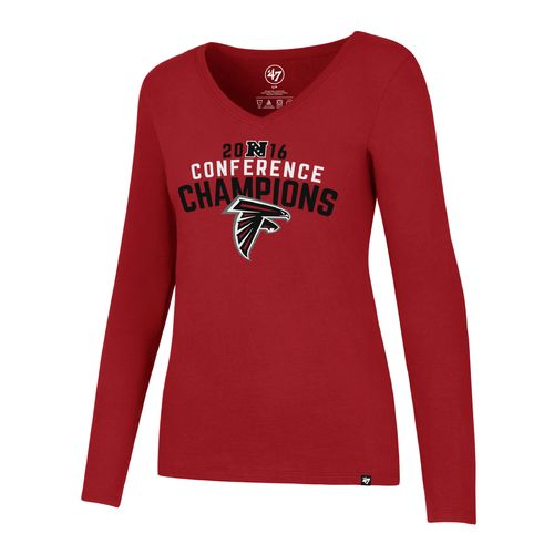 '47 Women's Atlanta Falcons 2016 NFC Champions Long Sleeve Splitter T-shirt