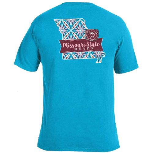 Image One Women's Missouri State University Pattern Scroll State T-shirt - view number 1