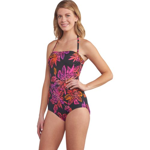 Jantzen Women's Palm Coast Bandeau 1-Piece Swimsuit