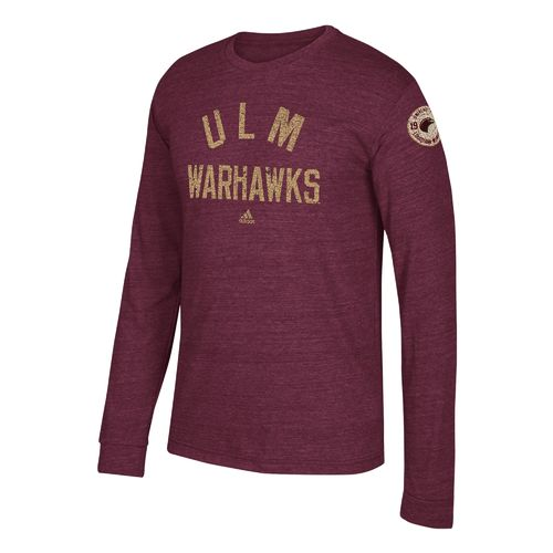 adidas Men's University of Louisiana at Monroe Arched Heritage Long Sleeve T-shirt