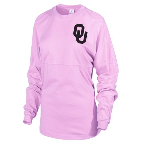 Venley Women's University of Oklahoma Hawaiian Spirit Long Sleeve Football T-shirt - view number 2