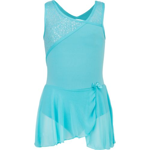 Capezio Girls' Future Star Geo Shine Skirted Leotard