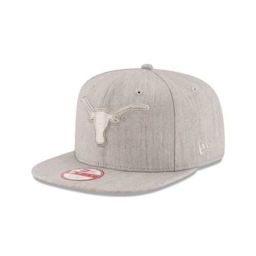 New Era Men's University of Texas Heather Basic Snap Cap