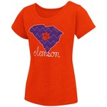 Colosseum Athletics™ Girls' Clemson University Tissue 2017 T-shirt - view number 1