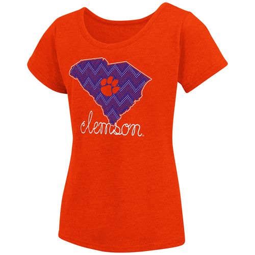 Colosseum Athletics™ Girls' Clemson University Tissue 2017 T-shirt