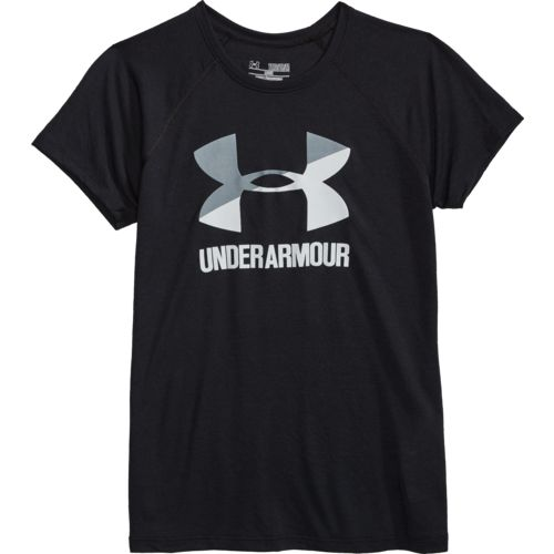 Under Armour Girls' Big Logo Short Sleeve T-shirt - view number 4